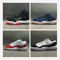 Wholesale new air retro hot sale black red low bred sneakers XI s blue brown boy sport shoes red white trainers top quality