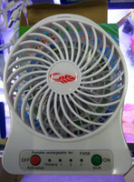 Wholesale USB Fan Mini Electric Personal with LED Light Portable Rechargeable Desktop Fan Battery Cooling Operated Lithium