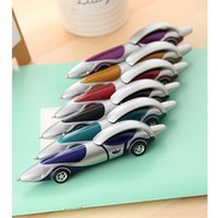 art design toys - New Cute Novelty Design Racing Car Shape Ballpoint Pen Office Child Kids Toy Gift Creative Stationery