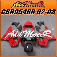Wholesale 5 Free Gift Addmotor New Goods Best Selling Injection Mold Fairings Body Work Fit Honda CBR954RR CBR954RR Red Black H9556