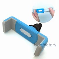 auto cell phone holder - Mini Car Air Vent Holder For iPhone Plus Portable Auto Car Cradle Bracket Phone Clip Mount for Samsung Cell phone Universal Blue