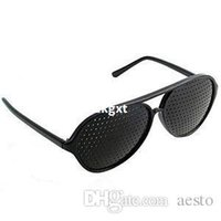 Wholesale pc Holes Sunglasses Healing Exercise Myopia Glasses Improve Eyesight Vision New E701