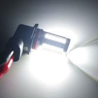 achat en gros de h3 55w-Ampoules de voiture super brillantes Lumières de brouillard avant LED H11 H10 9006 881 H3 H8 55W / 80W 12V DC Objectif Projecteur Ampoule Lumière stable