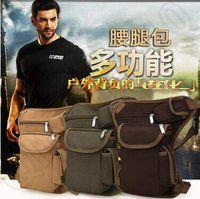 Wholesale 4 Colors Multifunction Outdoor Cotton Sports Leg Bag Canvas Waist Bag Money Belt Fanny Pack Casual Waist Bags CCA4976