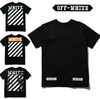 Wholesale off white t shirts for men women white stripes short sleeve t shirt women religious t shirts tees tshirts for men mens clothing