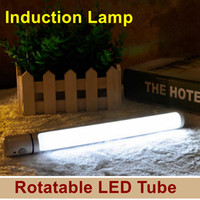 Wholesale Rotatable tube Emergency Auto Motion Sensor cordless Night Light Human Body Induction flash light night light adjustable wall lamp