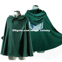 Wholesale DHL Model Size Anime no Kyojin Cloak Cape Clothes Cosplay Costume Fantasia Attack on Titan Plus Size XXL