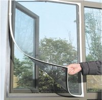 Wholesale self adhesive anti mosquito window screens window curtain sticky screen window Invisible Windows and doors window accessories summer