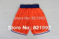 Wholesale Top Quality Hottest Sale New Arrival New York Men s Basketball Highest Grade Mesh shorts Orange White Blue Stitched