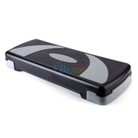 Wholesale Grey Adjustable Aerobic Step Stepper Level Height Yoga Board Home Exercise Hot