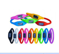 Wholesale Kid Gifts Candy Color Anion pedometers Silicone Fitness Tracker Wristband Rubber Bracelet pedometer Portable For Outdoor Fitness Equipment