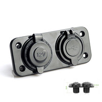 Wholesale 1x Dual USB V Charger Power Adapter Car Cigarette Lighter Socket Splitter M00107 FAD