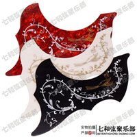 Wholesale Black red white and inch hummingbird folk guitar backplate flower and bird acoustic guitar guard board