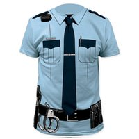 adult pirate shirt - Men Police D T Shirt Doctor Gentleman Adult Funny Party Pirate Sailors Prisoner Halloween Cosplay Costume