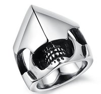 african mask design - 316L Stainless Steel Casting Helmet and Armour Mask Design Ring SZ