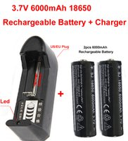 Wholesale 3 V mAh Rechargeable Battery chager for LED Flashlight batteyr charger