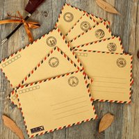 airmail paper - Vintage Kraft Paper Postmarks Design Airmail Envelope DIY Gift Envelope Multifunction H0129