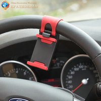 auto wheel rubber - Universal Auto Car Steering Wheel Phone Holder Stand Mobile Cell Phone Mount Bracket Rubber Band Car Styling