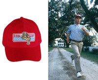 Wholesale BUBBA GUMP SHRIMP CO Baseball Sport Summer Outdoor Red Cap Embroidered Hat Forrest Gump Cosplay Hats