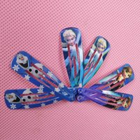 Wholesale Hot Style High Quality Frozen Hair Clips Girls Hair Accessories Clamps Hairpin Ornament with Paper card hair clips by DHL