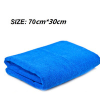 Wholesale Blue Soft Absorbent Wash Cloth Car Towel Microfibre Car wash Cloth cm cm