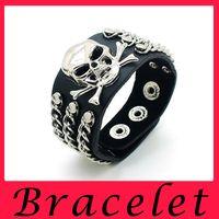 american levels - European Style Punk Rivet Bracelet Skull Club Trend Domineering Bardian Multi level Fashion Hand Jewelry