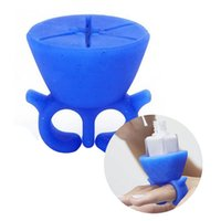 Wholesale Soft Silicone Finger Wearable with Ring Nail Polish Bottle Holder Creative Nail Beauty anicure Polish Varnish Bottle Display Stand Holder
