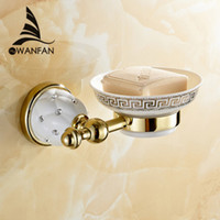 bathroom vanity accessories - New Golden finish brass Soap basket soap dish soap holder bathroom accessories bathroom furniture toilet vanity