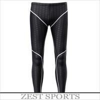 Wholesale Men boy s professional shark skin swim trunks Sunscreen Long swimming trunks fall winter swimwear wet suit diving Pants