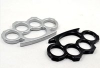 Wholesale 20PCS very very cheap Thin Steel Brass knuckle dusters COLOR Silver Black Self defense equipment