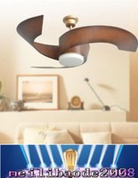 Wholesale Modern simple style led ceiling fans lights inches cm gold three blade ABS fans remote control indoor led ceiling fans V V MYY