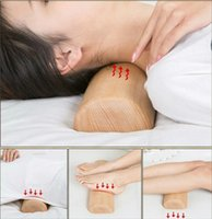 Wholesale MOOSENG Natural Wooden Pillow for Neck Tension Relief and Spinal Health Massage Pillow By DHL