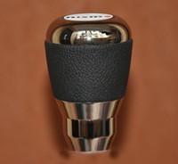 aluminium shift knobs - Leather and Aluminium Alloy Gear Shift Knob For Nismo Nissan Skyline R34 Xtrail Sunny Fairlady Z350 manual Transmission MT