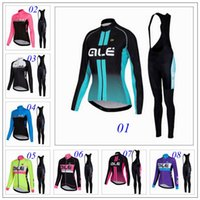 autumn ale - New Design Ale Cycling Jersey Set Women Road MTB Bicycle Clothing Long Sleeve Gel Padded Bib Pants Autumn Winter Warmer Ropa Ciclismo