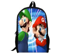 Wholesale the brothers of Super Mario Backpack Cartoon and durable used for all different ages HD Printed for students college style