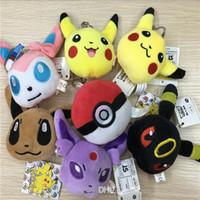 Wholesale hot sale Useful Poke Plush keychain Pikachu Plush Keychain Pendants Stuffed Plush Toy With Ring cm F627