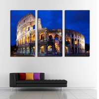 art sites - 3 Picture Combination Art Hd Print Picture Home Decor Wall Art Famous Site Rome Arena Extra Large Wall Art Painting Wall Decor