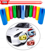 Wholesale Car Styling CM Car Film for Car Led Light Protective Film Self Adhesive Vinyl Wrap Sticker Headlight Tail light Fog light Film Sticker