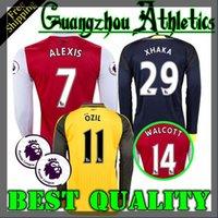 arsenal long sleeve away shirt - 2016 Arsenal Away home RD Jerseys WILSHERE OZIL WALCOTT RAMSEY ALEXIS XHAKA Long sleeves shirt