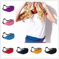 belly pillow - New Unisex Portable Multifunction Sport Runner Fanny Pack Belly Waist Bum Bag Fitness Running Jogging Belt Solid Pouch Waist Bag B0469