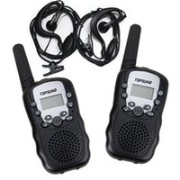 Wholesale 2PCS Walkie Talkie T388 Private Code Wireless Interphone PMR Channels FRS GMRS CH Way Radios with Flashlight Earphone
