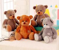 Wholesale 2016 Hot Selling Teddy Bear cm Cotton Light Brown Colors Cute Plush Teddy Bear Huge Soft TOY