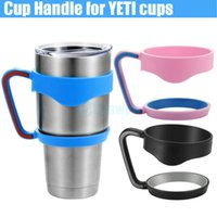 Wholesale 2016 Cups Handle for Bilayer YETI Cups OZ Stainless Steel Insulation Mug Cup Cars Color Travel Vehicle Beer Rambler Tumblerful DHL free