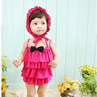 Wholesale Children s Swimsuit swim cap kids conjoined swimsuit Kids bathing suit Beach swim skirt