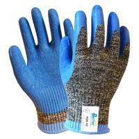 latex coated gloves - Aramid Fiber Gloves Steel Gloves Latex Coated EN388 Grade Anti Cut Work Gloves