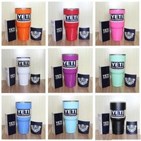 Wholesale 2016 hot colourful yeti Bilayer Stainless Steel Insulation Cup OZ YETI Cups Cars Beer Mug Large Capacity Mug Tumblerful
