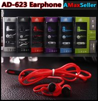 ad lines - Hot AD Universal In ear Noodles line Earbuds mm sports Earphones Headphone with Microphone Heavy Bass Headset with retail package