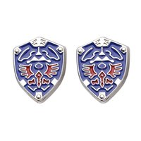 Wholesale Alloy Legend of Zelda Triforce Shield Cufflink Cuff Links sleeve button for men shirts dress suit Cuff links luxury jewelry