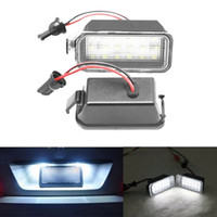 auto max ford - 2x Error Free White Car styling led Rear License Plate light For Ford Fiesta JA8 DA3 Focus S max C max Mondeo Kuga Auto Lamp
