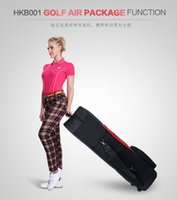 aviation space - Brand PGM Golf Thicker Airplane Bag With Wheel Big Containing Flexible Application To Save Space Easy Carried golfbag Aviation